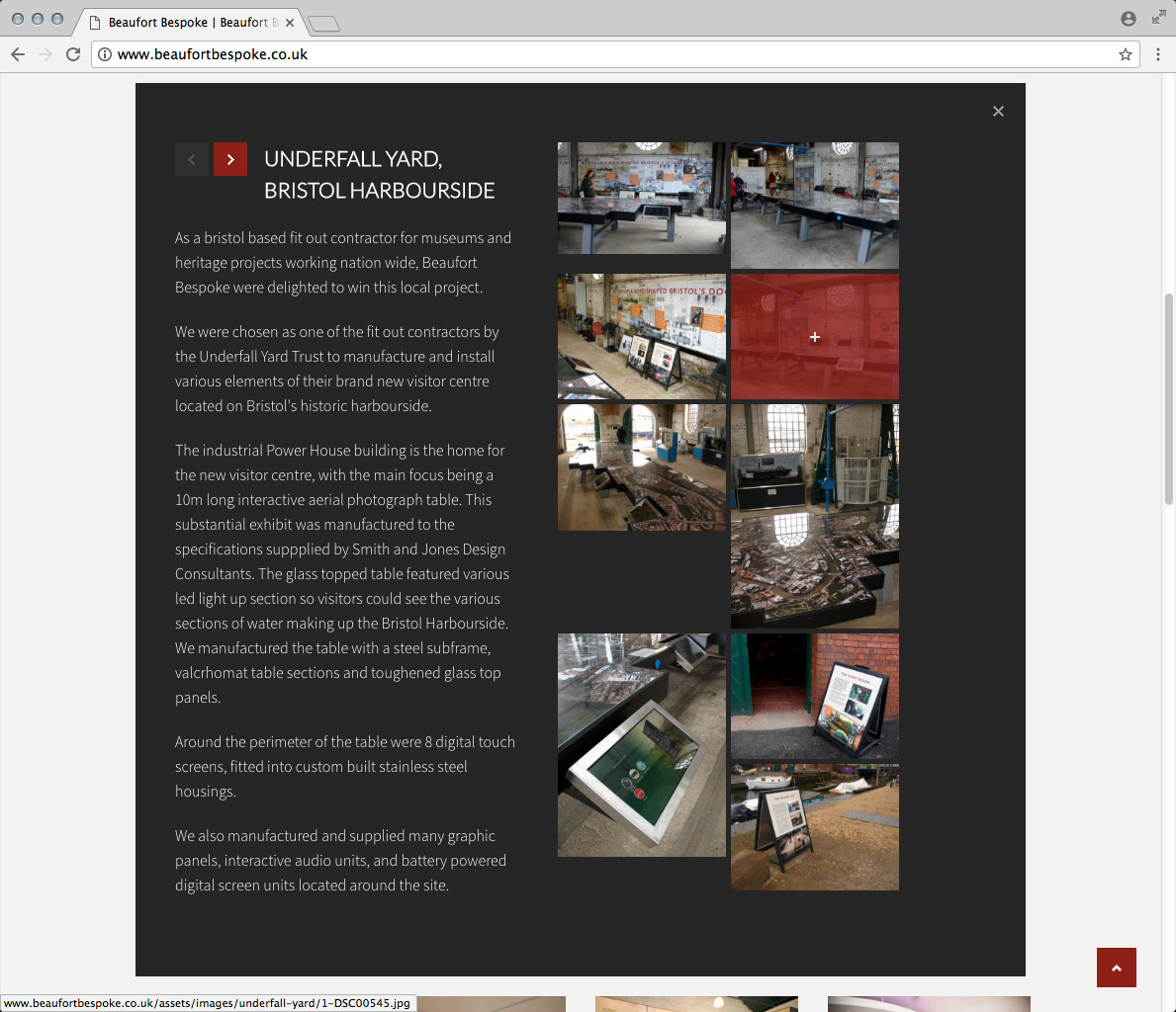 Website Development, Website Design and CMS. A Wordpress Website for Beaufort Bespoke Exhibition Design.
