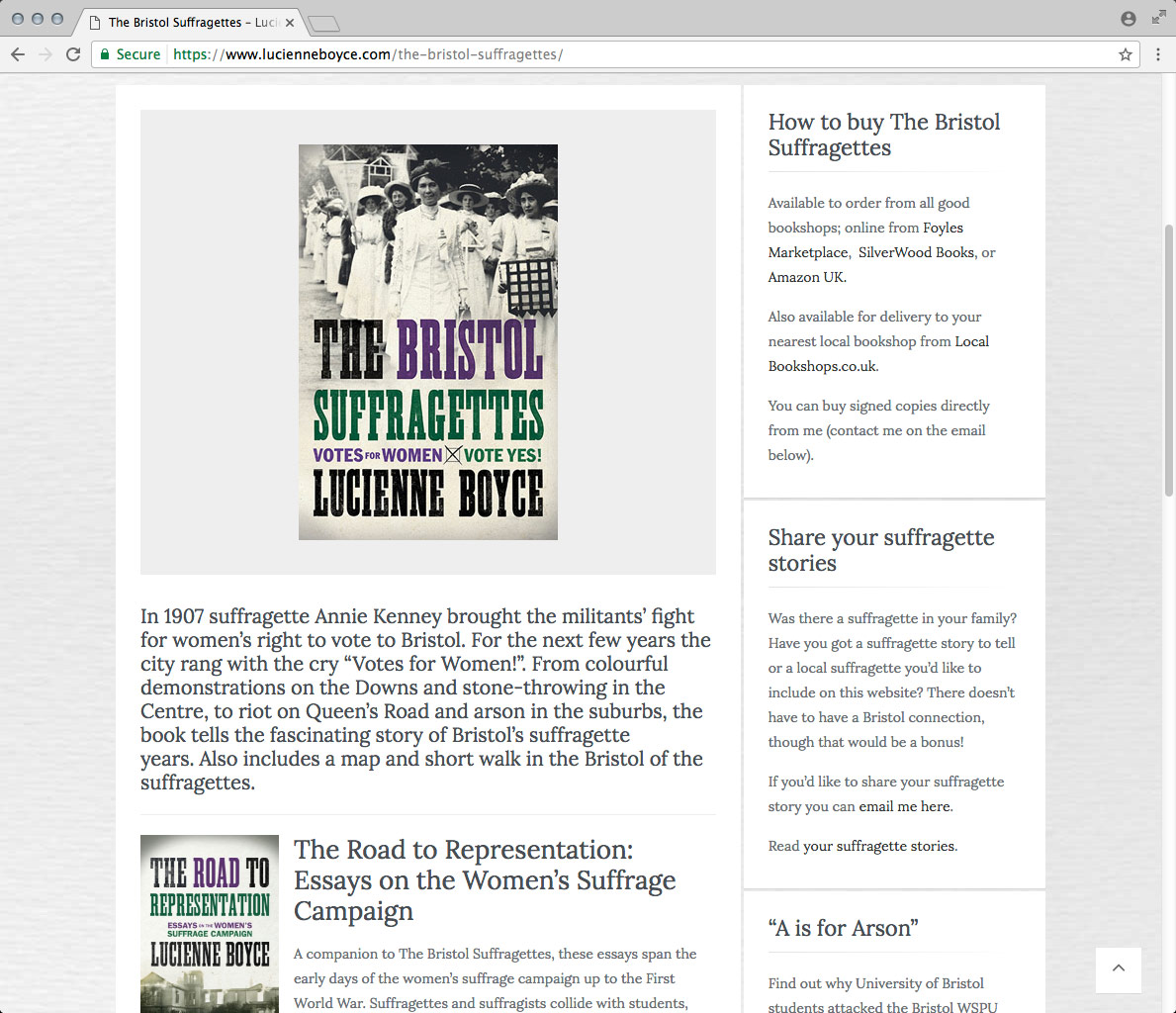 Website Development, Website Design and CMS. A Wordpress Website Lucienne Boyce, Writer.