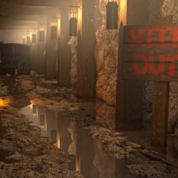 Cinema 4D Mine Explosion Animation
