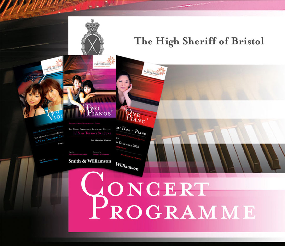 Graphic Design for Bristol Cathedral Events.