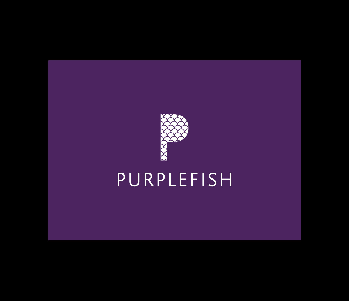 Identity Design for Purplefish. Logo Design and Graphic Design.